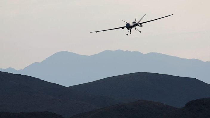 A US drone over the desert in Nevada