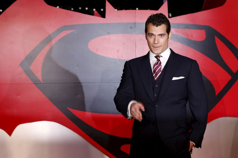 """FILE PHOTO: Henry Cavill arrives for the European Premiere of """"Batman V Superman: Dawn of Justice"""" in Leicester Square in London"""