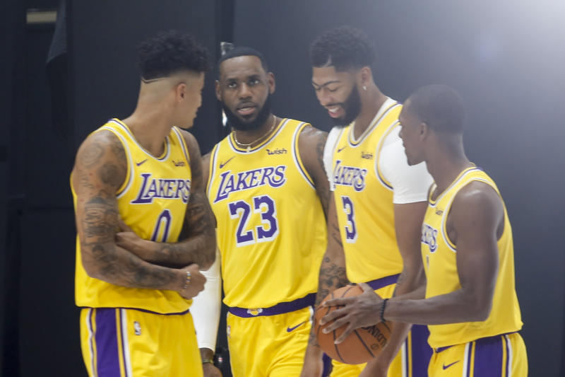 Lakers Media Day Basketball