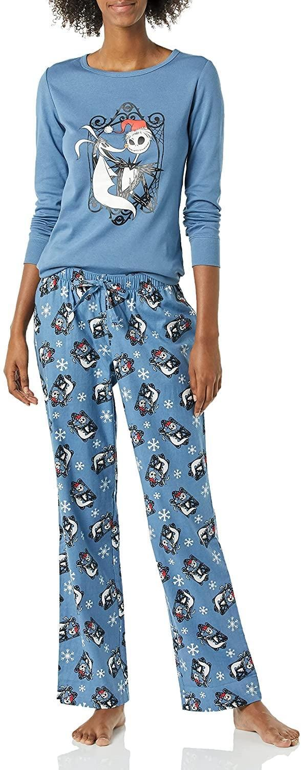 """<p>Disney fans, you can't sleep on these pajamas. Commence the holiday season and grab a pair of the <span>Amazon Essentials Women's Disney Nightmare Before Christmas Pajamas</span> ($30). It's perfect for <a class=""""link rapid-noclick-resp"""" href=""""https://www.popsugar.co.uk/Halloween"""" rel=""""nofollow noopener"""" target=""""_blank"""" data-ylk=""""slk:Halloween"""">Halloween</a> and even Christmas! </p>"""