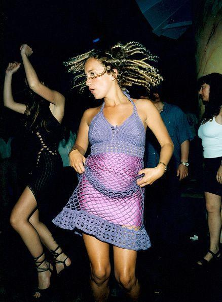 <p>Neon + netting was enough to make us toss our hair too in 2000. </p>