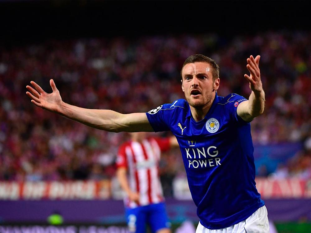 It was a frustrating night for Jamie Vardy and his team-mates (Getty)