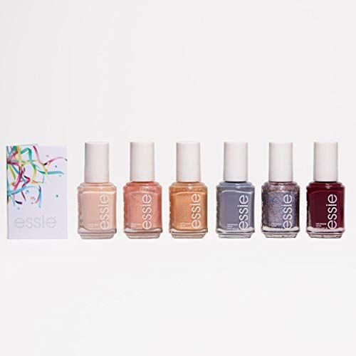 """<p><strong>essie</strong></p><p>amazon.com</p><p><strong>$41.13</strong></p><p><a href=""""https://www.amazon.com/dp/B08FSCNT7B?tag=syn-yahoo-20&ascsubtag=%5Bartid%7C2141.g.37678990%5Bsrc%7Cyahoo-us"""" rel=""""nofollow noopener"""" target=""""_blank"""" data-ylk=""""slk:SHOP NOW"""" class=""""link rapid-noclick-resp"""">SHOP NOW</a></p><p>The coolest thing about this nail polish gift set is that the colors are all celebratory shades that are perfect to wear during the holiday season. And this six-piece set is a steal for just $41 (one bottle is usually around $9).</p>"""