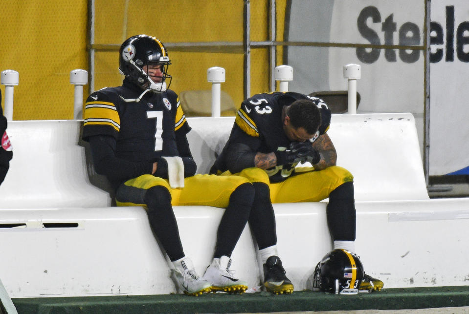 Pittsburgh Steelers quarterback Ben Roethlisberger and center Maurkice Pouncey