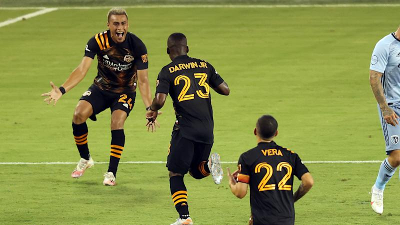 MLS: Dynamo score five goals to stun Sporting KC, Union edge Red Bulls