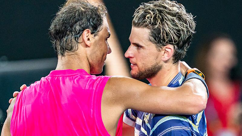 Tennis rivals Rafael Nadal and Dominic Thiem will have to wait until after the US Open to face off again. (Photo by Andy Cheung/Getty Images)