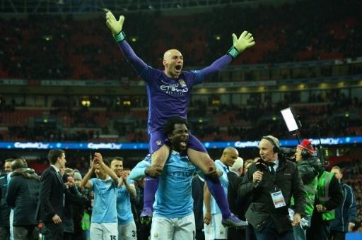 Caballero saves earn Man City League Cup crown