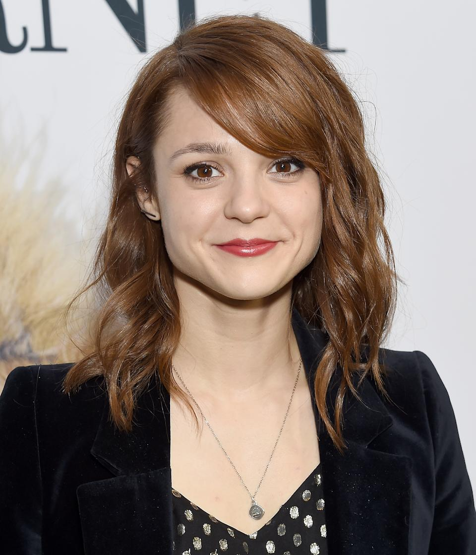 HOLLYWOOD, CA - MAY 09:  Kathryn Prescott arrives at the Premiere Of Universal Pictures'