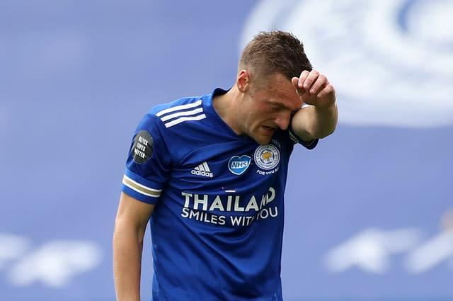 Jamie Vardy came closest for Leicester on a frustrating afternoon (Carl Recine/PA)