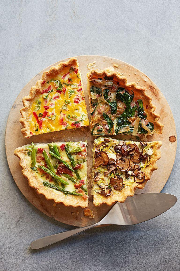 "<p>The options are endless when it comes to breakfast quiche. Not to mention, it's super easy to add a ton of veggies in order to start your morning in the healthiest way. </p><p><em>Choose from <a href=""https://www.goodhousekeeping.com/food-recipes/a15630/pimiento-cheese-make-ahead-quiche-recipe-ghk0514/"" rel=""nofollow noopener"" target=""_blank"" data-ylk=""slk:Pimiento Cheese"" class=""link rapid-noclick-resp"">Pimiento Cheese</a>, <a href=""https://www.goodhousekeeping.com/food-recipes/a14620/asparagus-bacon-make-ahead-quiche-recipe-ghk0514/"" rel=""nofollow noopener"" target=""_blank"" data-ylk=""slk:Asparagus and Bacon"" class=""link rapid-noclick-resp"">Asparagus and Bacon</a>, <a href=""https://www.goodhousekeeping.com/food-recipes/a11866/ham-spinach-make-ahead-quiche-recipe-ghk0514/"" rel=""nofollow noopener"" target=""_blank"" data-ylk=""slk:Ham and Spinach"" class=""link rapid-noclick-resp"">Ham and Spinach</a> or <a href=""https://www.goodhousekeeping.com/food-recipes/a14636/mushroom-zucchini-make-ahead-quiche-recipe-ghk0514/"" rel=""nofollow noopener"" target=""_blank"" data-ylk=""slk:Mushroom and Zucchini"" class=""link rapid-noclick-resp"">Mushroom and Zucchini</a>.</em> </p>"