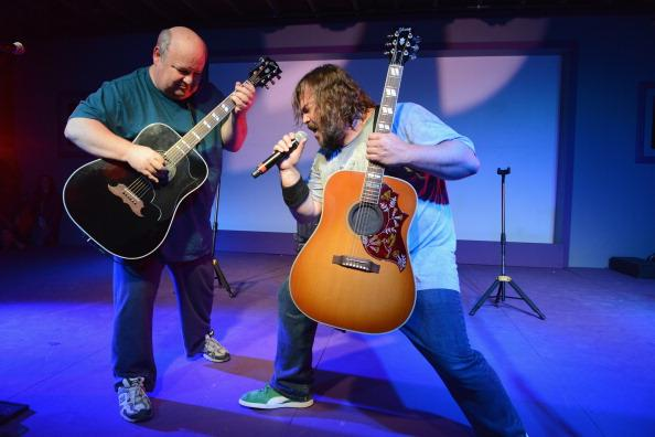Musicians Jack Black and Kyle Gass of Tenacious D perform onstage at Brazos Hall during the 2013 SXSW Music, Film + Interactive Festival2013 SXSW Music, Film + Interactive Festival on March 13, 2013 in Austin, Texas.