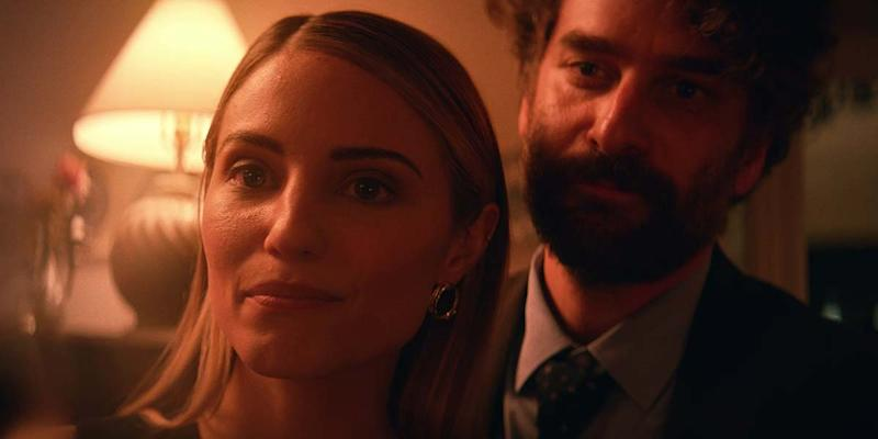 Dianna Agron and Danny Defarrari in 'Shiva Baby' (Courtesy of TIFF)