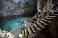 """Mexico's water-filled sinkholes known as cenotes were called """"sacred wells"""" by the Maya people"""