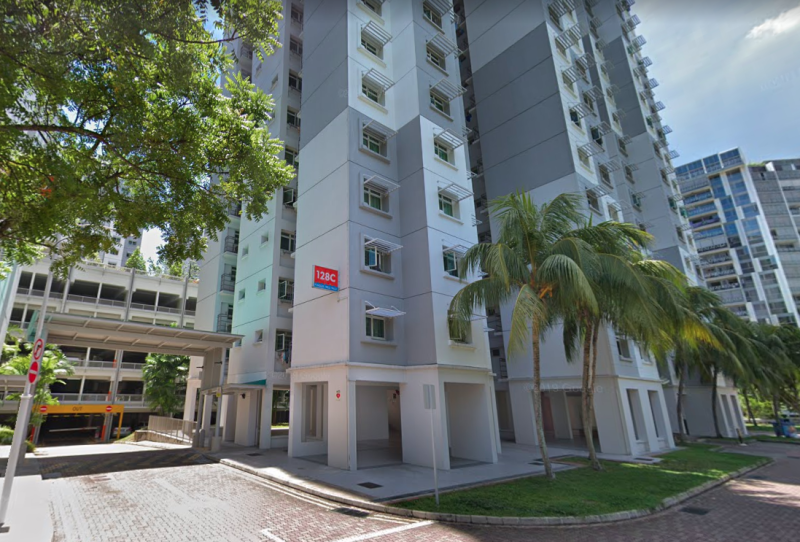 The offence took place within the vicinity of Block 128C Punggol Field Walk. PHOTO: Screenshot from Google Street View