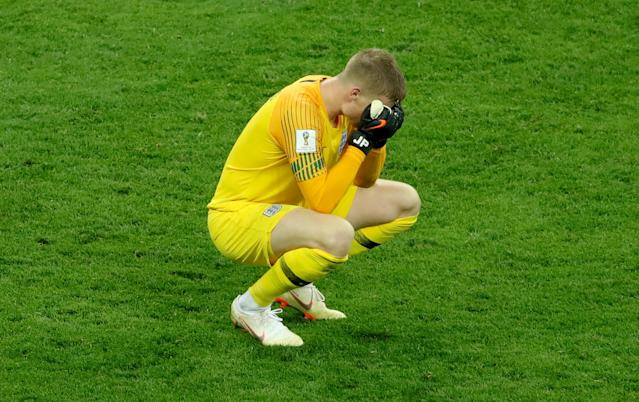 Jordan Pickford is heartbroken after England's World Cup dream is crushed by Croatia.