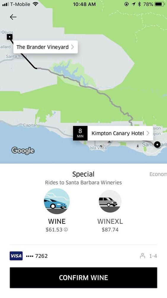 UberWINE Is Here So You Can Finally Vineyard Hop Without a ... on lompoc wine trail map, amador wineries map, san ynez map, el dorado county wineries map, california ava map, sta rita hills appellation map, sonoma winery map, sonoma valley map, buellton wineries map, solvang map, augusta mo wineries map, best santa barbara wineries map, fair play wineries map, lompoc wineries map, monterey wineries map, los olivos map, napa valley wineries map, morro bay wineries map, santa rita hills map, montana state parks map,