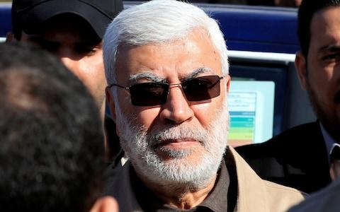 <span>Abu Mahdi al-Muhandis, a commander in the Popular Mobilisation Forces, was killed in the same convoy as Qassem Soleimani</span> <span>Credit: Reuters </span>
