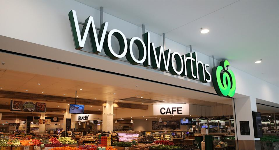 A Woolworths store front.