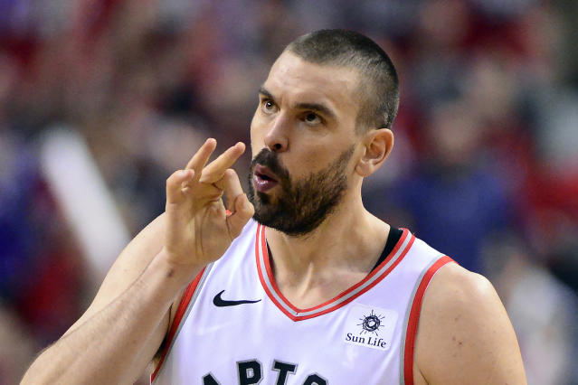 Toronto Raptors centre Marc Gasol originally did not want to leave the Memphis Grizzlies prior to the trade. (THE CANADIAN PRESS/Frank Gunn)