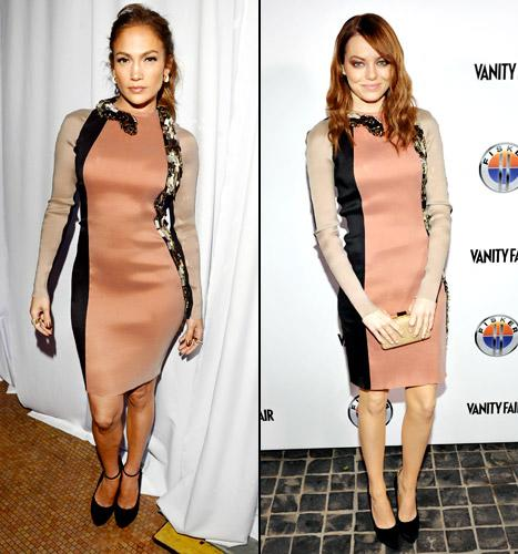Who Wore It Best: Jennifer Lopez or Emma Stone?
