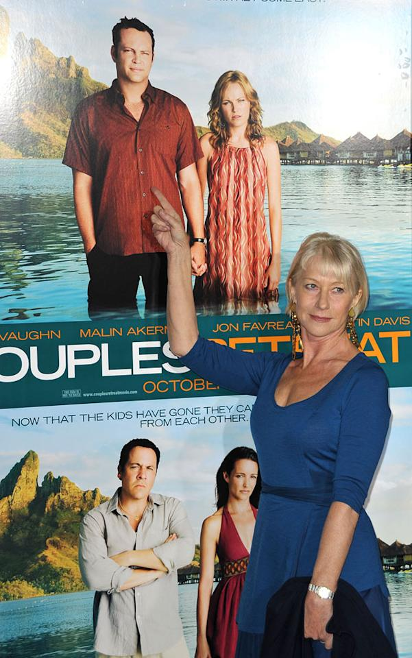 """<a href=""""http://movies.yahoo.com/movie/contributor/1800011130"""">Helen Mirren</a> at the Los Angeles Premiere of <a href=""""http://movies.yahoo.com/movie/1810045875/info"""">Couples Retreat</a> - 10/05/2009"""