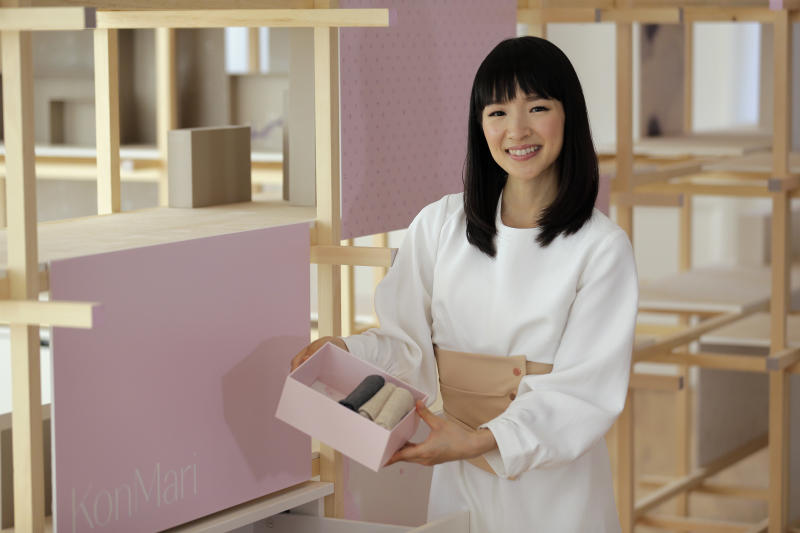 Marie Kondo's first book in the U.S.,<i>The Life-Changing Magic of Tidying Up</i>, made The New York Times best seller list. (ASSOCIATED PRESS)
