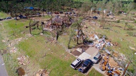 FILE PHOTO: Homes are severely damaged after a tornado hit the town of Emory, Texas, U.S., April 30, 2017. REUTERS/Brandon Wade/File Photo