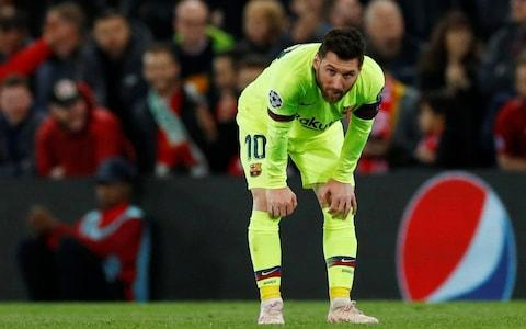 Messi in disbelief - Credit: REUTERS