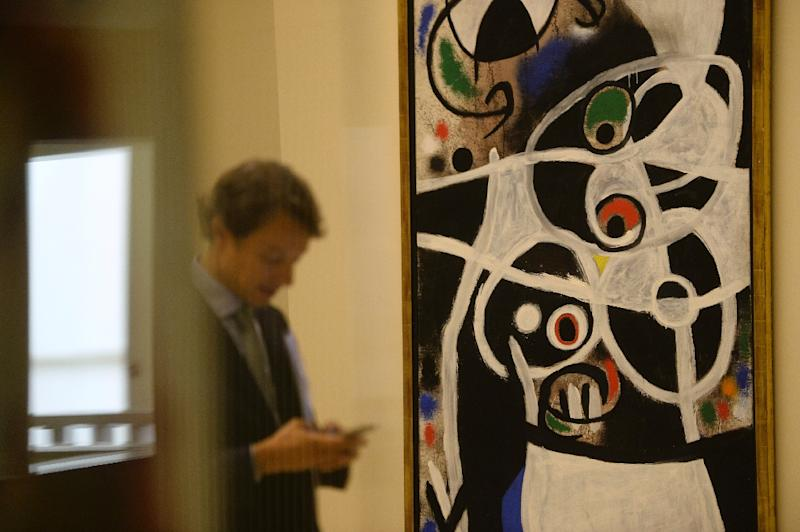 """The exhibition """"Joan Miro: Materiality and Metamorphosis"""", pictured in September 2016, has already notched up 100,000 visitors"""