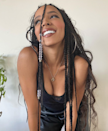 Tinashe's slim goddess braids are ideal if you're looking for a style that doesn't need too much added hair. Keeping the feed-in hair light means you'll have less pulling on your delicate edges.