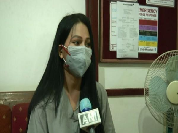 Dr Beyonce Laishram talking to ANI in Imphal. Photo/ANI