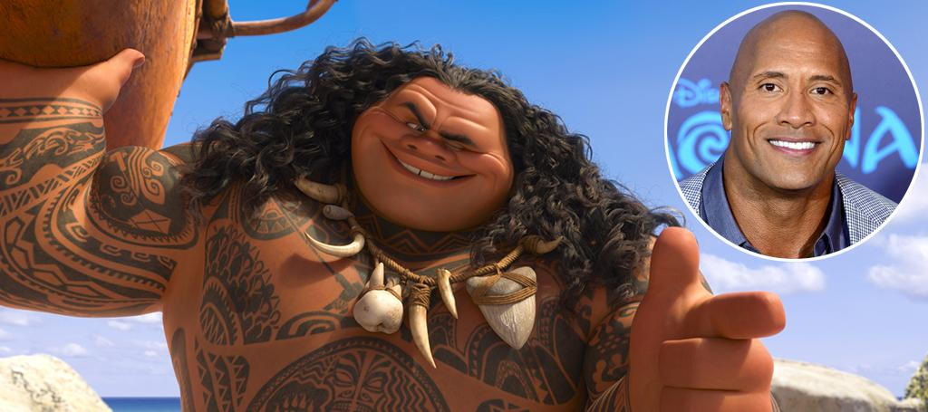"""<p>Once upon a time, Polynesian demigod Maui would have been the requisite """"dude who saves the day"""" in yet another Disney princess movie. Fortunately, Moana <a rel=""""nofollow"""" href=""""https://www.yahoo.com/movies/moana-doesnt-have-a-prince-charming-and-thats-a-big-deal-201114050.html"""">flips that tired script</a>, clearly establishing the titular chieftain's daughter as the champion of her own destiny. That choice, in turn, allows Johnson to play to his strengths as a genial muscle-bound goofball who pumps up the charisma of everyone in his orbit. (Photo: Disney/Getty) </p>"""