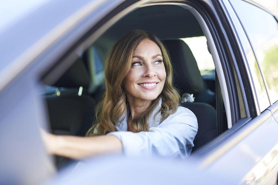 """<p>""""Each time you're stuck at a stoplight, do five <a href=""""https://www.prevention.com/fitness/g20434818/strengthen-your-pelvic-floor/"""" rel=""""nofollow noopener"""" target=""""_blank"""" data-ylk=""""slk:Kegel exercises"""" class=""""link rapid-noclick-resp"""">Kegel exercises</a>, squeezing for about five to 10 seconds each,"""" says <a href=""""https://heatherbartosmd.com/"""" rel=""""nofollow noopener"""" target=""""_blank"""" data-ylk=""""slk:Heather Bartos, M.D."""" class=""""link rapid-noclick-resp"""">Heather Bartos, M.D.</a>, an ob/gyn in Cross Roads, TX. To do them, squeeze (and release) the muscles you'd use to stop urine flow without engaging your upper abs, thighs, or butt muscles. """"Doing these regularly strengthens the pelvic floor, which can prevent problems such as incontinence,"""" says Dr. Bartos.</p>"""