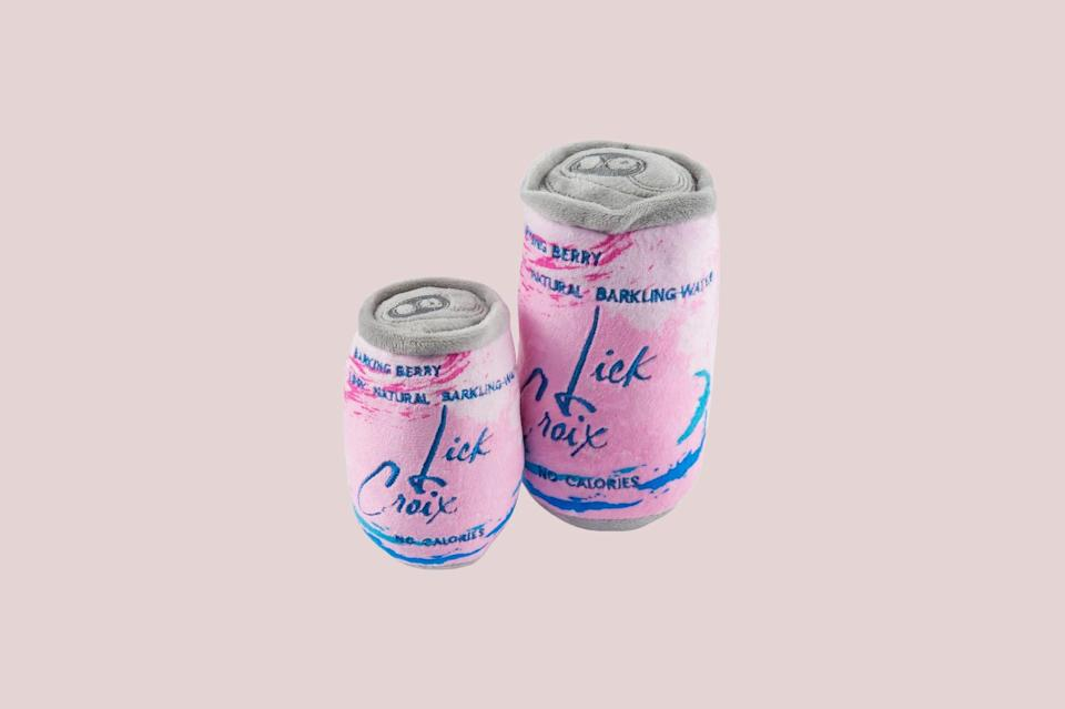 """<p>If you love to crack open an ice-cold drink, offer your dog a similar """"refreshment"""" from Haute Diggity Dog's Muttini collection. Choose your flavor: Barkling Water in Pamplemutt or Lickety Lime, or Barkin' Berry.</p> <p><strong><em>Shop Now:</em></strong><em> Haute Diggity Dog """"Barkin' Berry"""" LickCroix, starting from $13, </em><a href=""""https://www.hautediggitydog.com/collections/muttini-bar-collection/products/lickcroix-barkin-berry"""" rel=""""nofollow noopener"""" target=""""_blank"""" data-ylk=""""slk:hautediggitydog.com"""" class=""""link rapid-noclick-resp""""><em>hautediggitydog.com</em></a><em>.</em></p>"""