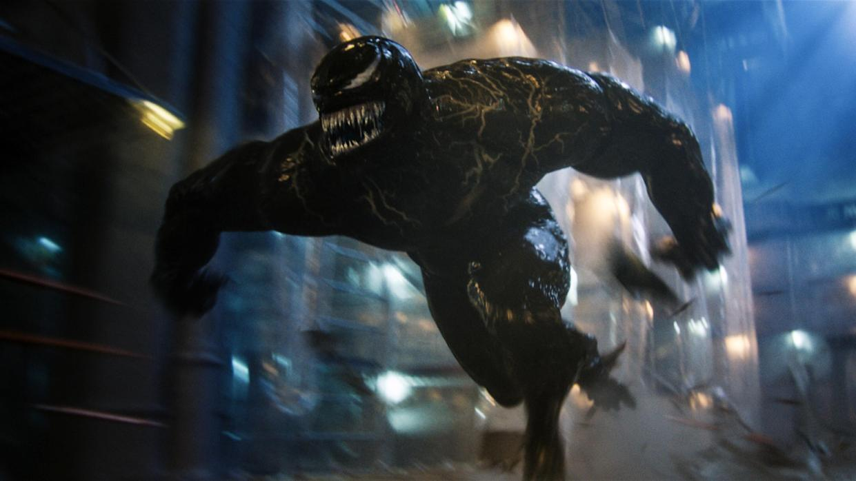 Venom charges into action as a