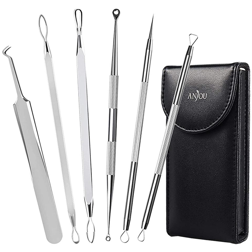 <p><span>Anjou Blackhead Remover Comedone Extractor Blemish Removal Tools Set</span> ($6, originally $8)</p>