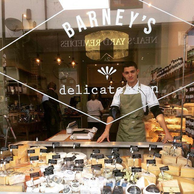 """<p>Tasty bakeries are ten a penny in Brighton - another reason why the city is top of our list for a fun short break. </p><p>The city's multi-cultural population means that you'll be spoiled for choice when it comes to snacking, and Mediterranean-inspired delis like Barney's are where we like to head when we're in town. </p><p>Barney's celebrates British produce, and locals flock here for artisan cheeses and charcuterie.</p><p><a href=""""https://www.instagram.com/p/Bpj0mwRH_Mx/"""" rel=""""nofollow noopener"""" target=""""_blank"""" data-ylk=""""slk:See the original post on Instagram"""" class=""""link rapid-noclick-resp"""">See the original post on Instagram</a></p>"""