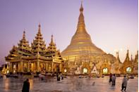 """<p>Glistening in the sunlight high above Yangon, the <a href=""""http://www.theshwedagonpagoda.com/"""" rel=""""nofollow noopener"""" target=""""_blank"""" data-ylk=""""slk:Shwedagon Pagoda"""" class=""""link rapid-noclick-resp"""">Shwedagon Pagoda</a> stands as the possibly the oldest Buddhist pagoda or temple in the world. According the local legend, two brothers encountered the Buddha beneath a tree one day and offered him food. The Buddha, delighted by their offer, gifted them exactly eight of his hairs, which the brothers then carried in a ruby casket to what is now Myanmar. From there, the King of Yangon commissioned the construction of the gold-plated and gemstone-encrusted temple where the holy hairs would eventually be entombed. The pagoda has survived several natural disasters and military occupations, and the glittering sight still stands as a reminder of hope and resilience.</p>"""