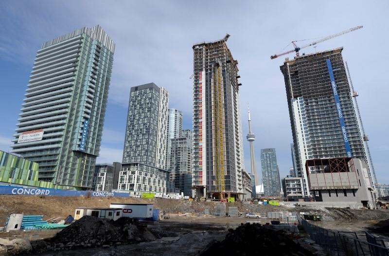 A condominium construction site is seen in Toronto