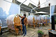 "Mark ""Baz"" Butcher, landlord of The White Hart of Wytham, has switched to food delivery to survive"