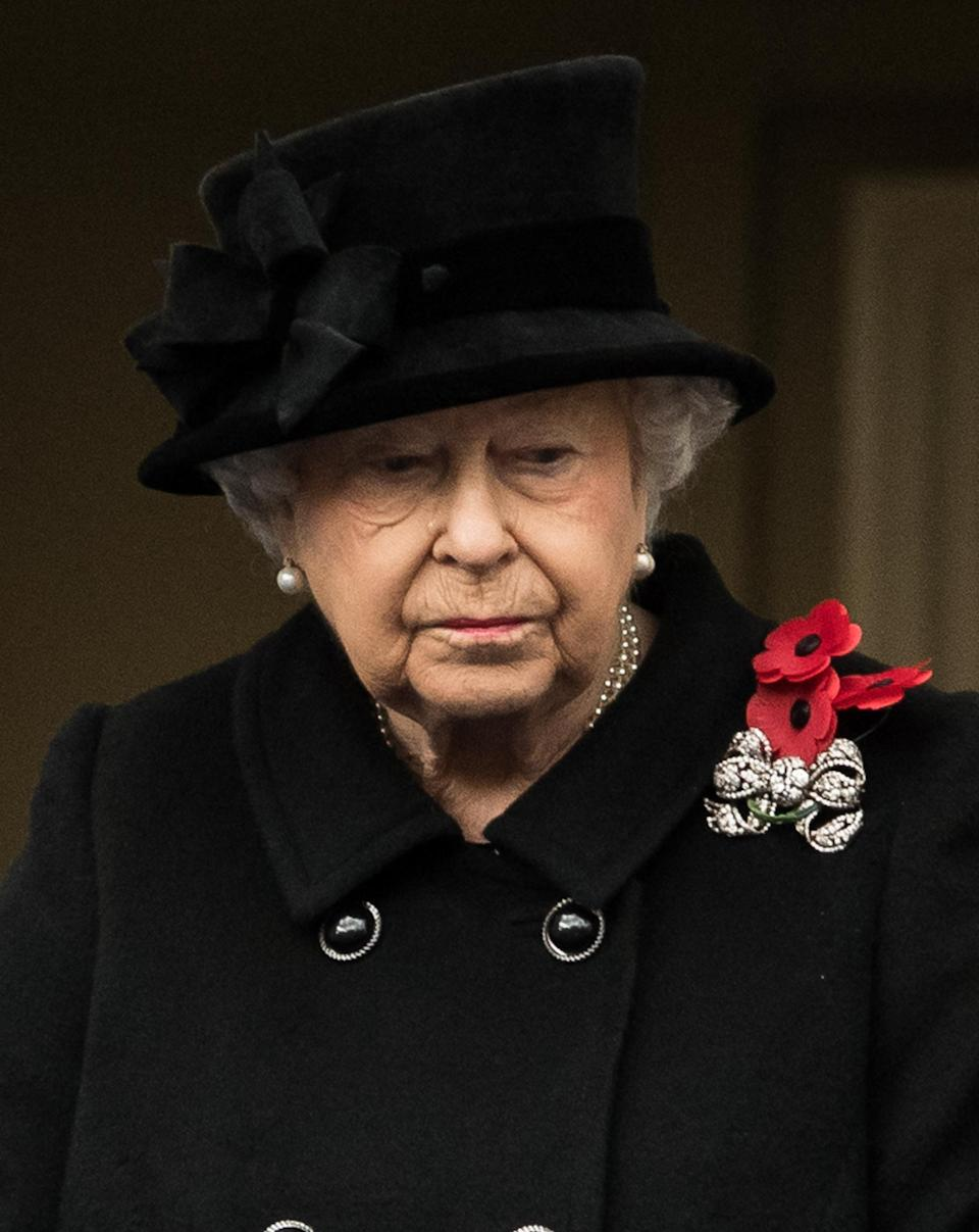<p>Meanwhile, this year marked the first time that Queen Elizabeth II, 91, watched the service from a balcony rather than perform her sacred duty and lay a wreath. Traditionally, the monarch lays the wreath to honour Britain's war dead — but she had Prince Charles lay the wreath on her behalf.</p>