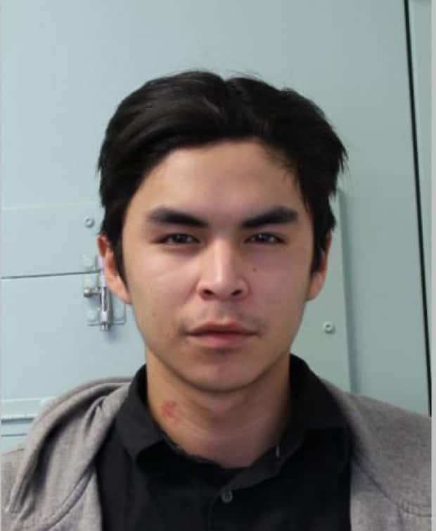Prince Albert RCMP released an image of the accused, Luke Cook, 21, asking for the public's assistance in finding him.   (Prince Albert RCMP - image credit)