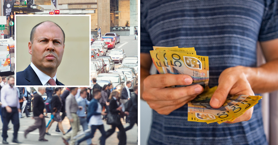 Josh Frydenberg has written to the Fair Work Commission about the minimum wage settings in Australia. (Images: Getty).