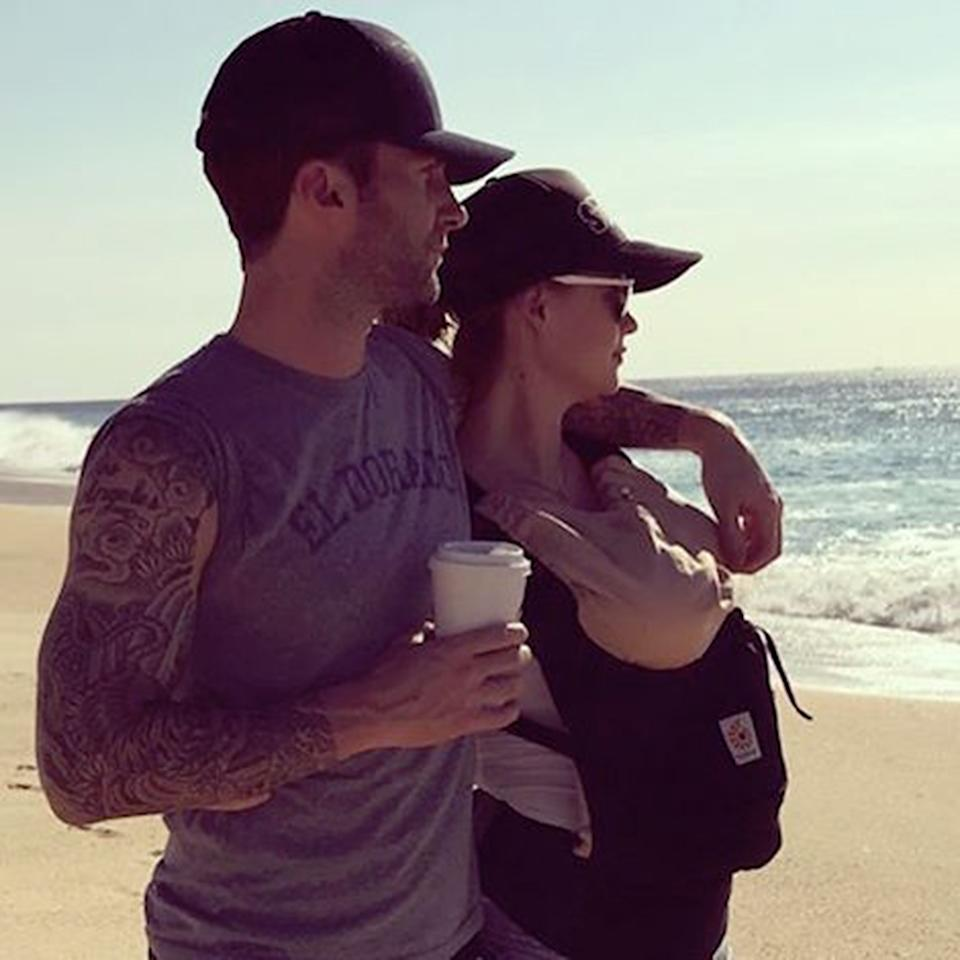 """<p>Are we going to get a <i>Songs About Dusty</i> album? Maroon 5 frontman Adam Levine and wife Behati Prinsloo welcomed their first child together on Sept. 21. <i>The Voice</i> coach was very ready for fatherhood. """"You're born to be a parent, that's what we're here for, really. All the other s*** is great, but it's not what we're here for,"""" he told <a rel=""""nofollow"""" href=""""<a href="""