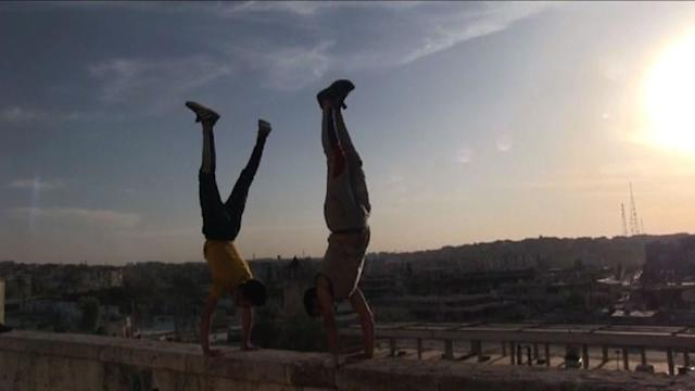 Omar Kosha and his team of six have for years used the streets, gyms and public gardens of the western sector of the Syrian city of Aleppo to practise parkour ... now they have a whole new terrain for their extreme sport.