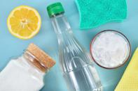 "<p>Sometimes the best cleaning solution is one you have right in your pantry. Whether you're on a <a href=""https://www.oprahmag.com/life/g26432017/spring-cleaning-tips/"" rel=""nofollow noopener"" target=""_blank"" data-ylk=""slk:spring cleaning rampage"" class=""link rapid-noclick-resp"">spring cleaning rampage</a>, you need to <a href=""https://www.oprahmag.com/life/a27126298/diy-carpet-cleaner/"" rel=""nofollow noopener"" target=""_blank"" data-ylk=""slk:scrub red wine out of your new carpet"" class=""link rapid-noclick-resp"">scrub red wine out of your new carpet</a>, or you're trying to stop the stomach bug from spreading through your house like wildfire, staples like vinegar, baking soda, and <a href=""https://www.oprahmag.com/life/health/a30644595/essential-oils-for-allergies/"" rel=""nofollow noopener"" target=""_blank"" data-ylk=""slk:essential oils"" class=""link rapid-noclick-resp"">essential oils</a> can help. Experts say these DIY homemade cleaners are just as tough on bacteria as conventional cleaning products, but much gentler on your body and the environment. From an all-purpose solution without vinegar for countertops, to wood polish for furniture, to bathroom cleaners, there's something for every dirt- and germ-filled area of your home. (Yep, even the toilet!)</p>"