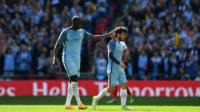 Pep Guardiola may have to make do without playmaker David Silva when Manchester City host Manchester United on Thursday.