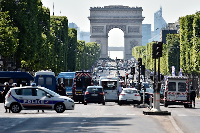 Anti-terrorism prosecutors have opened an investigation into the incident that briefly sparked chaos on the world famous avenue (AFP Photo/ALAIN JOCARD)