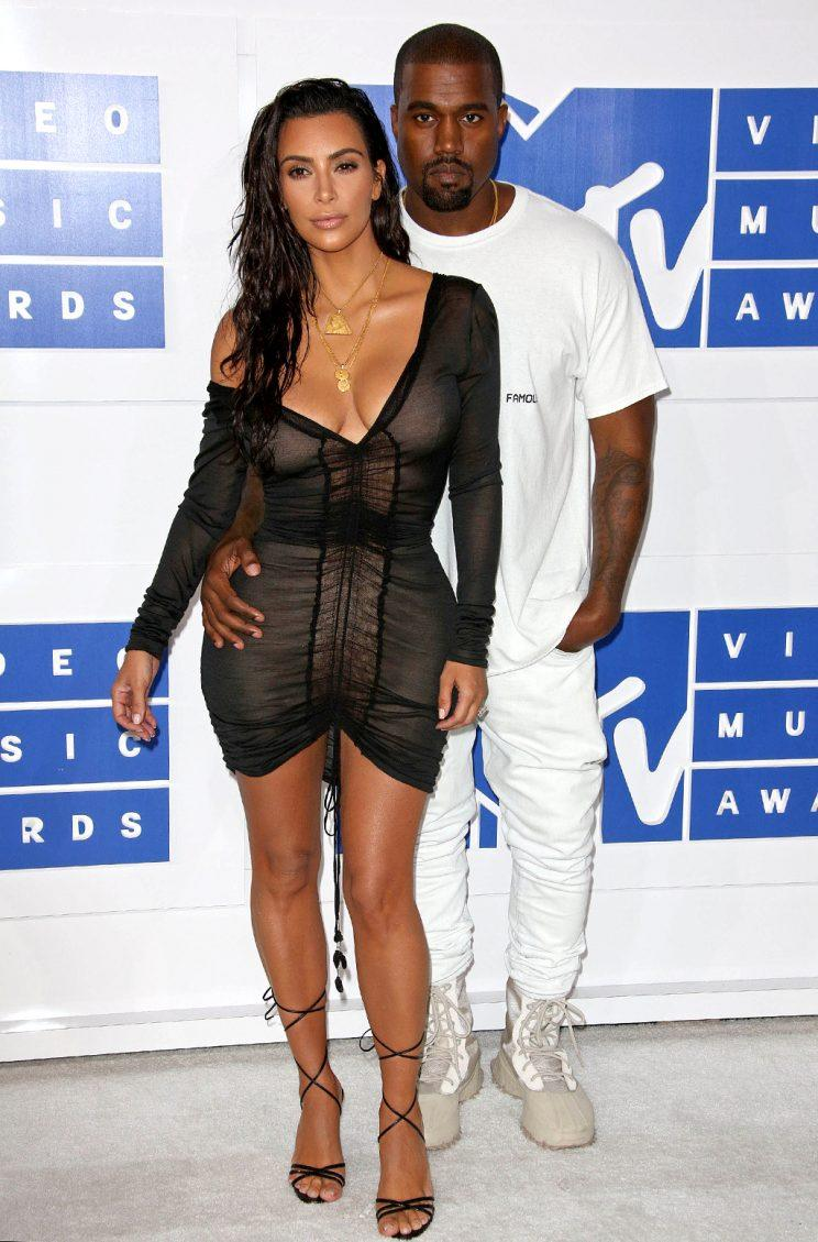 Kim Kardashian and Kanye West hit the 2016 VMAs as a united front. (Photo by: Westcom/STAR MAX/IPx)