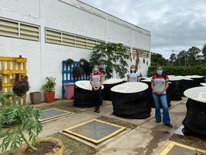 The composting area at CNH Industrial's plant in Sorocaba, Brazil